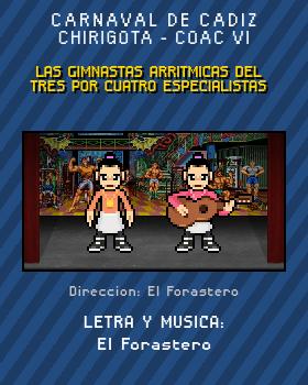 Libreto de Chirigota Las Gimnastas Arritmicas Del Tres Por Cuatro Especialistas del Carnaval de Cadiz