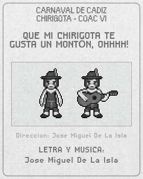Libreto de Chirigota Que Mi Chirigota Te Gusta Un Montón, Ohhhh! del Carnaval de Cadiz