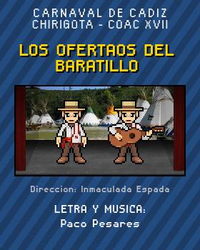Libreto de Chirigota Los Ofertaos Del Baratillo del Carnaval de Cadiz