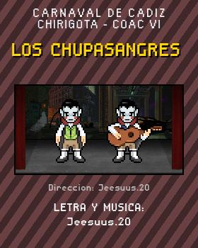 Libreto de Chirigota Los Chupasangres del Carnaval de Cadiz