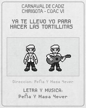 Libreto de Chirigota Ya Te Llevo Yo Para Hacer Las Tortillitas del Carnaval de Cadiz