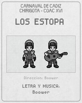 Libreto de Chirigota Los Estopa del Carnaval de Cadiz