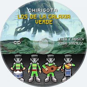 Cd de Chirigota Los De La Galaxia Verde del Carnaval de Cadiz