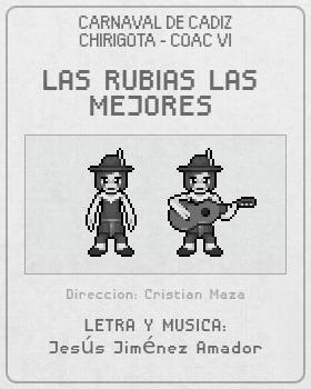 Libreto de Chirigota Las Rubias Las Mejores del Carnaval de Cadiz