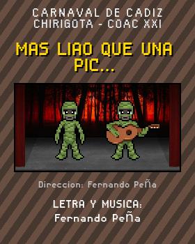 Libreto de Chirigota Mas Liao Que Una Pic... del Carnaval de Cadiz