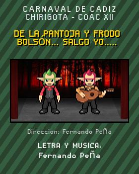 Libreto de Chirigota De La Pantoja Y Frodo Bolsón... Salgo Yo..... del Carnaval de Cadiz