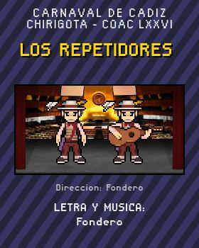 Libreto de Chirigota Los Repetidores del Carnaval de Cadiz