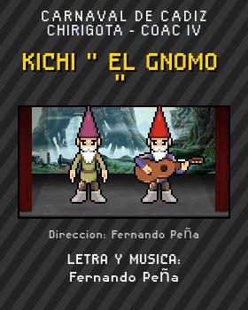 Libreto de Chirigota Kichi  El Gnomo  del Carnaval de Cadiz