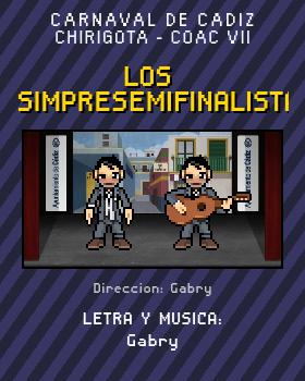 Libreto de Chirigota Los Simpresemifinalistas del Carnaval de Cadiz