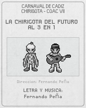 Libreto de Chirigota La Chirigota Del Futuro Al 3 En 1 del Carnaval de Cadiz