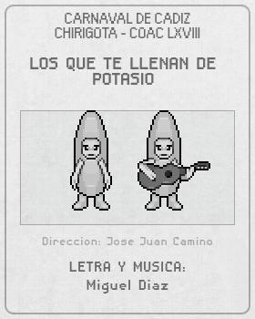 Libreto de Chirigota Los Que Te Llenan De Potasio del Carnaval de Cadiz