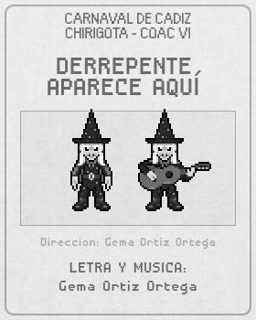 Libreto de Chirigota Derrepente Aparece Aquí del Carnaval de Cadiz