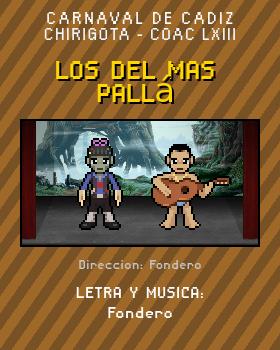 Libreto de Chirigota Los Del Mas Pallá del Carnaval de Cadiz