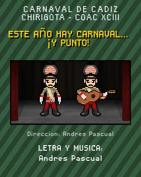 Libreto de Chirigota Este Año Hay Carnaval... ¡y Punto! del Carnaval de Cadiz