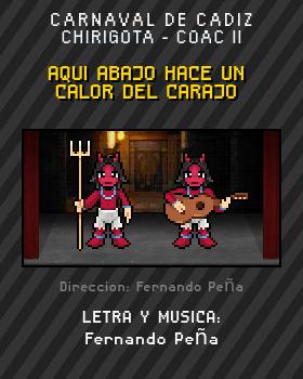 Libreto de Chirigota Aqui Abajo Hace Un Calor Del Carajo del Carnaval de Cadiz