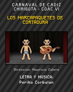 Libreto de Chirigota Los Marcapaquetes De Cortadura del Carnaval de Cadiz