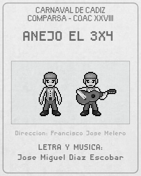 Libreto de Comparsa Anejo El 3x4 del Carnaval de Cadiz