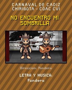 Libreto de Chirigota No Encuentro Mi Sombrilla del Carnaval de Cadiz