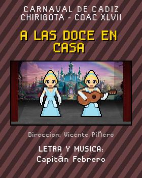 Libreto de Chirigota A Las Doce En Casa del Carnaval de Cadiz