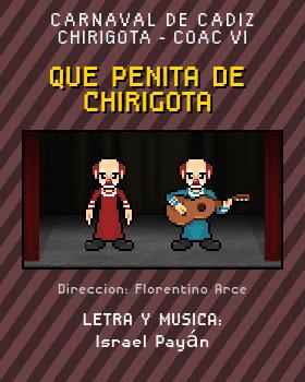 Libreto de Chirigota Que Penita De Chirigota del Carnaval de Cadiz