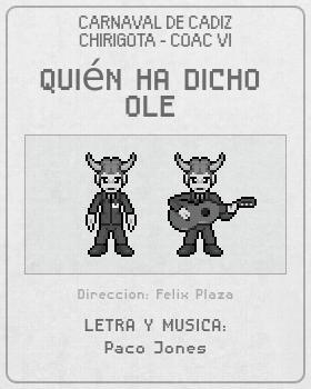 Libreto de Chirigota Quién Ha Dicho Ole del Carnaval de Cadiz