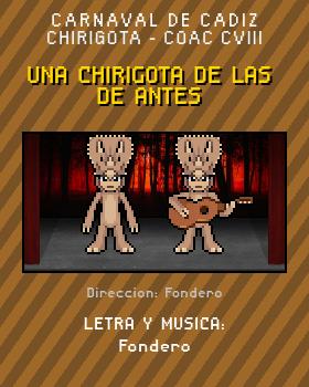 Libreto de Chirigota Una Chirigota De Las De Antes del Carnaval de Cadiz