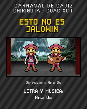 Libreto de Chirigota Esto No Es Jalowin del Carnaval de Cadiz