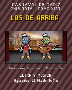 Libreto de Chirigota Los De Arriba del Carnaval de Cadiz