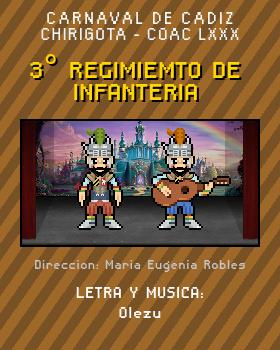 Libreto de Chirigota 3° Regimiemto De Infanteria del Carnaval de Cadiz