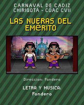 Libreto de Chirigota Las Nueras Del Emérito del Carnaval de Cadiz